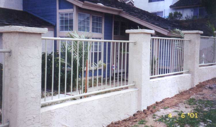 wall with railing bear fence san diego ca
